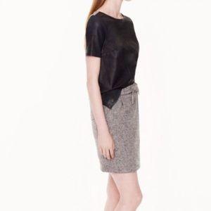 J. Crew Tie-Waist Tweed Miniskirt